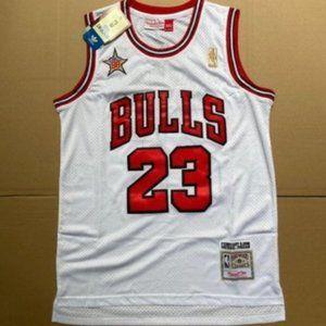 NBA Chicago Bulls 23 Michael Jordan White Jersey